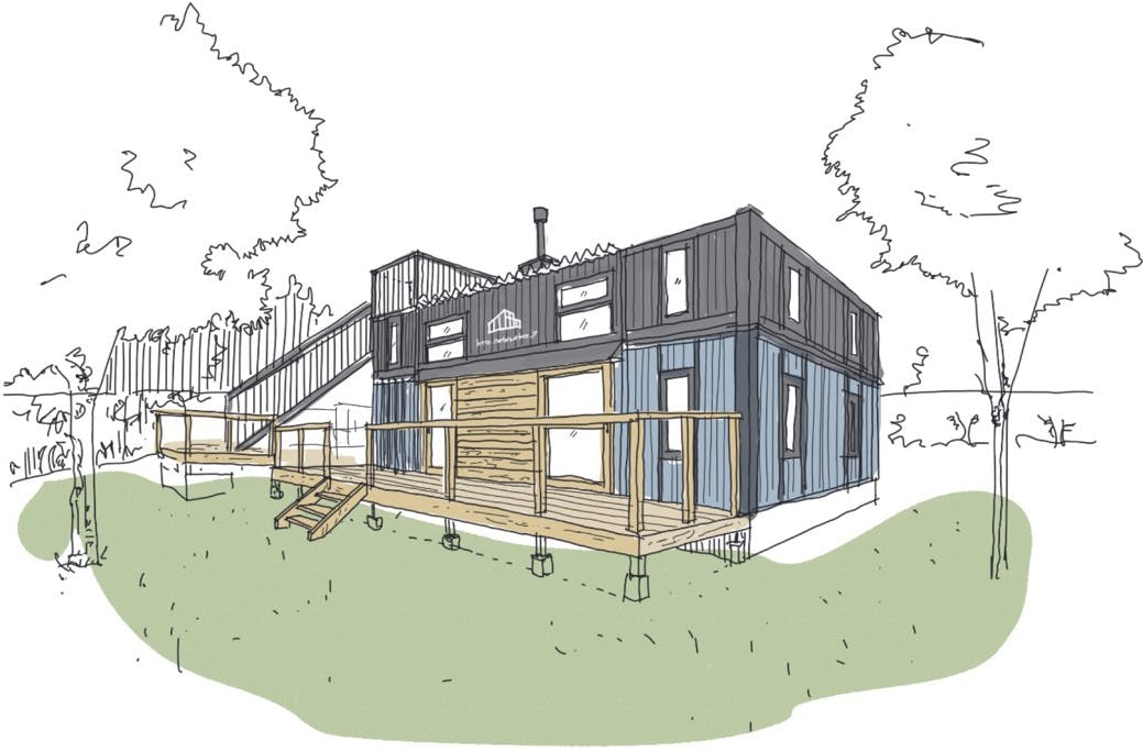 containerhouse sketched